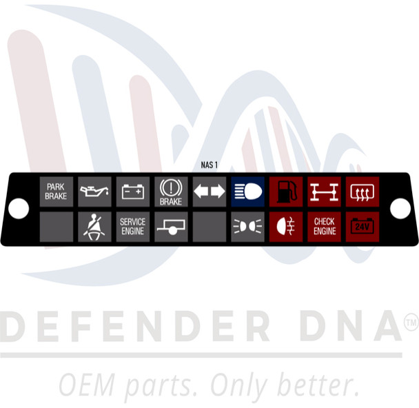 Defender 90/110 Warning Light Face Replacement Kit w/LED Upgrade-NAS OPTION 1
