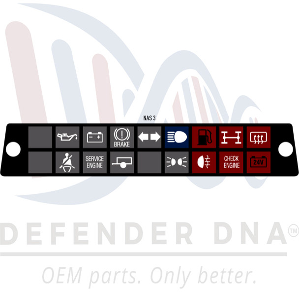 Defender 90/110 Warning Light Face Replacement Kit w/LED Upgrade-NAS OPTION 3