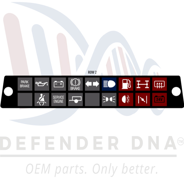 Defender 90/110 Warning Light Face Replacement Kit w/LED Upgrade-ROW OPTION 2