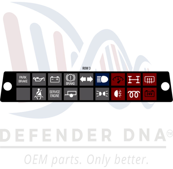 Defender 90/110 Warning Light Face Replacement Kit w/LED Upgrade-ROW OPTION 3