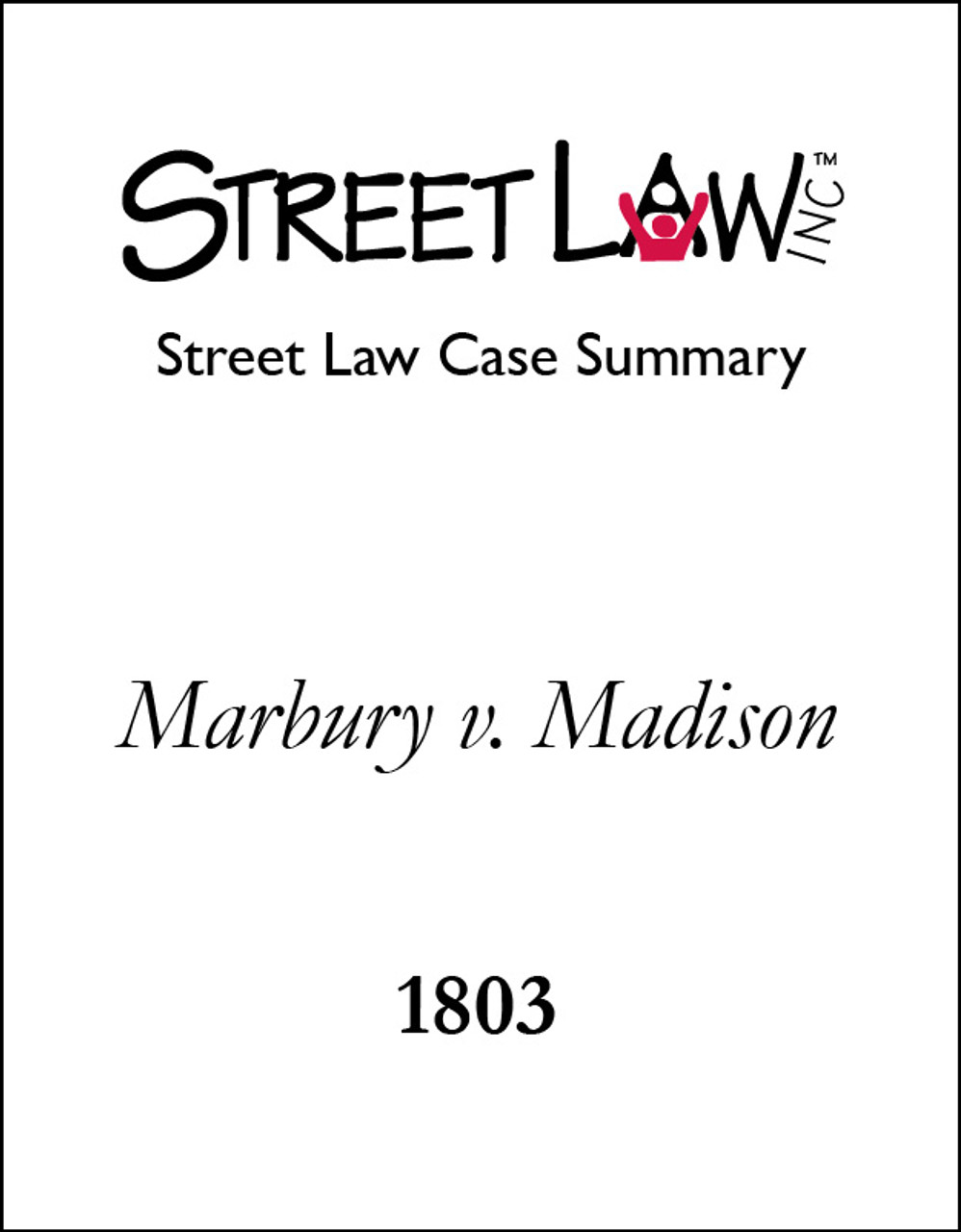 what is the significance of marbury v. madison