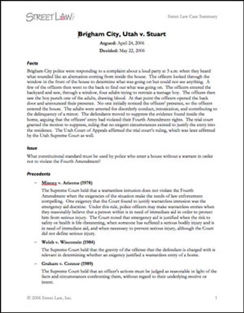 Brigham City v. Stuart (2006)