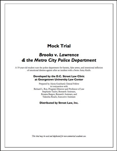 Brooks v. Lawrence & The Metro City Police Department