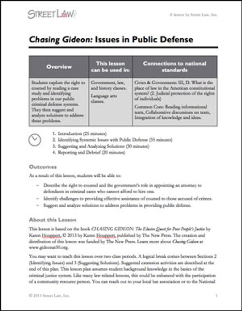 old version - Chasing Gideon Lesson Plan