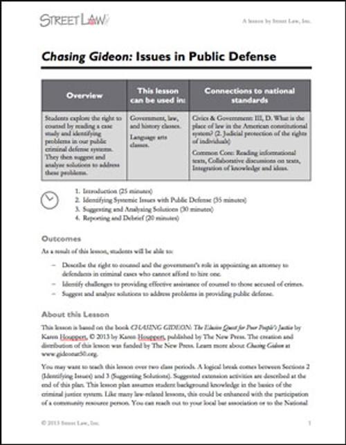 Chasing Gideon Lesson Plan