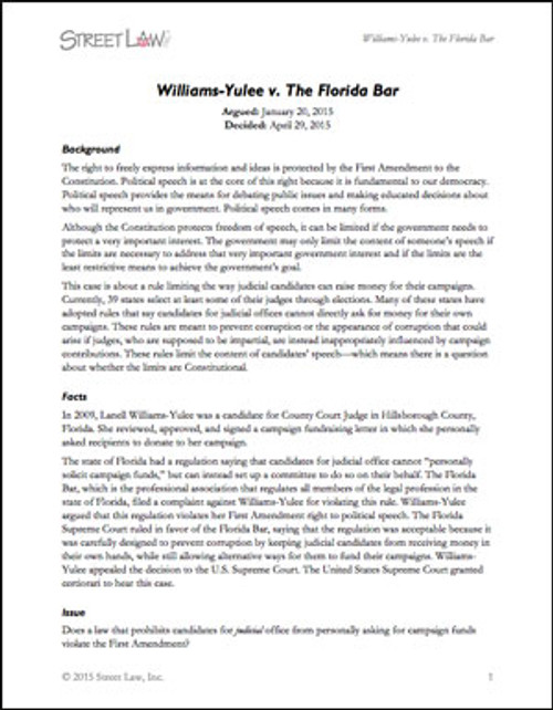 Williams-Yulee v. Florida Bar (2015)