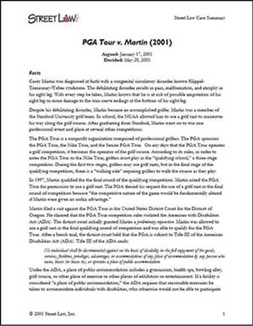 PGA Tour v. Martin (2001)