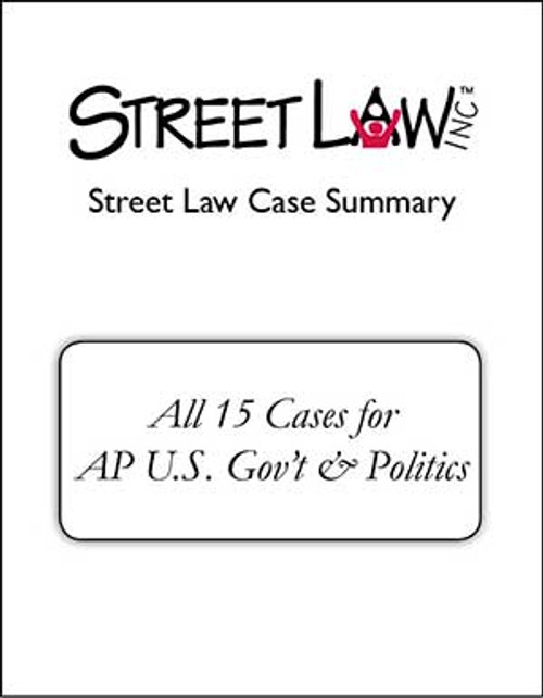 15 Case Summaries for AP Gov't & Politics (combined into single Word document)
