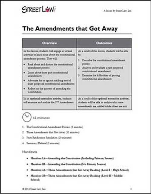 The Amendments that Got Away