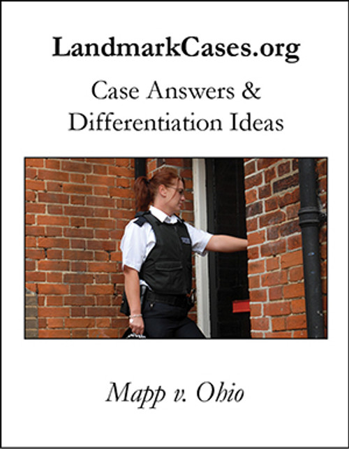Mapp v. Ohio — Case Answers and Differentiation Ideas