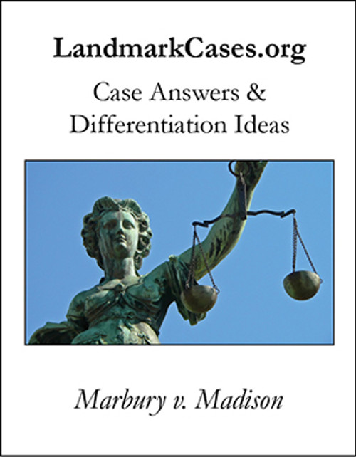 Marbury v. Madison — Case Answers and Differentiation Ideas