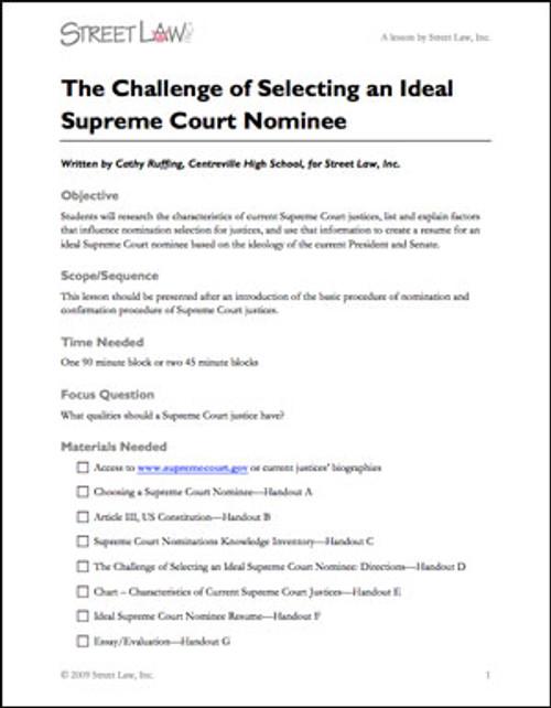 Nominating Federal Judges (standard version)