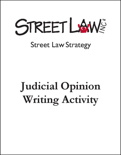 Judicial Opinion Writing Activity