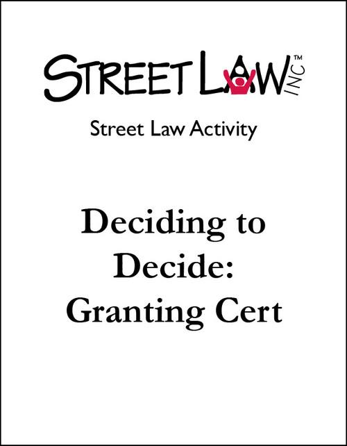 Deciding to Decide: Granting Cert