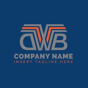 A letter 'D', 'W' and 'B' on a blue color background