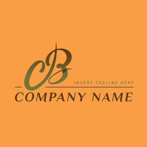 A handwriting letter 'B' on a orange color background