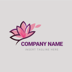 A pink water lily on a grey color background