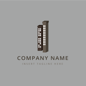 Tall buildings on a grey color background