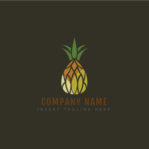 A pineapple on a grey color background