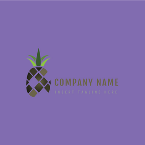 A pineapple on a purple color background