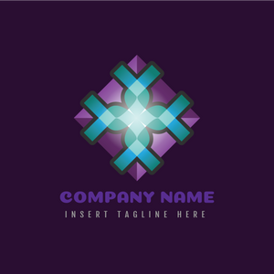 A square abstract design on a purple color background