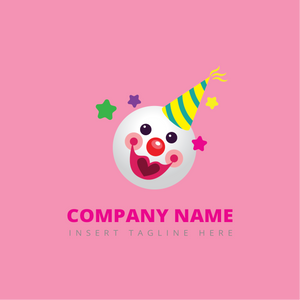 A clown on a pink color background