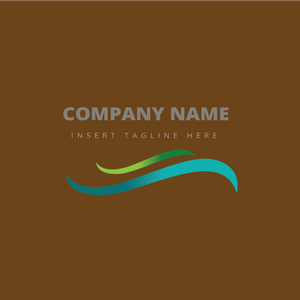 A wave shape on a brown color background