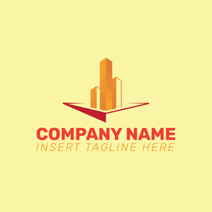 Real estate icon on a yellow color background