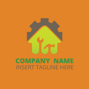 Repair home services on an orange color background