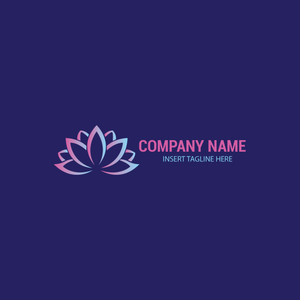 A lotus flower on a navy blue color background