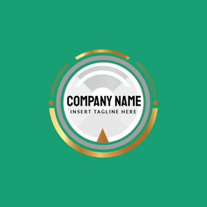 iconic metre logo on green background