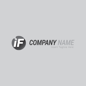 Two letters 'i' and 'F' in a circle on a grey color background