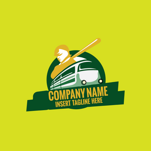 A train and a baseball player on a yellow color background