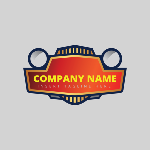 A car front head lamp on a grey color background