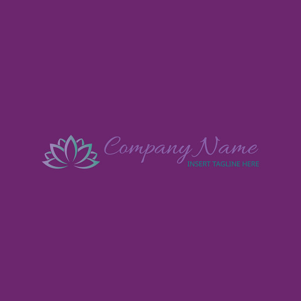 A lotus flower on a purple color background