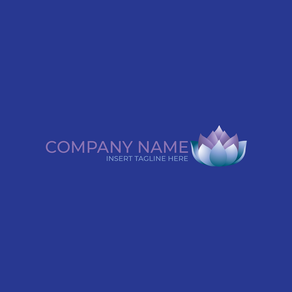 A purple lotus flower on a blue color background