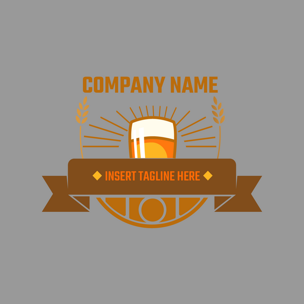 Beer Icon on grey background