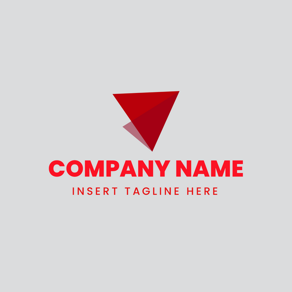 Paper airplane iconic logo on grey background