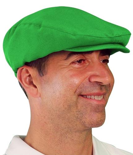 Golf Cap - 'Par 3' Mens Lime Microfiber