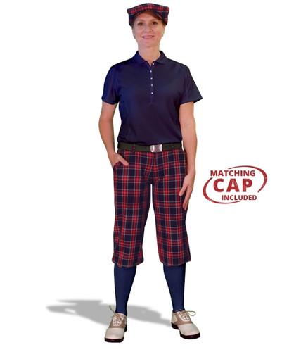 Golf Outfit Women - Navy Stewart & Navy