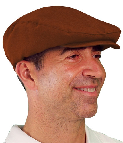 Golf Cap - 'Par 3' Mens Brown Microfiber
