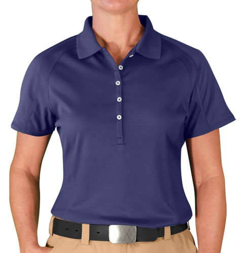 Ladies Hybrid Golf Shirt - Navy