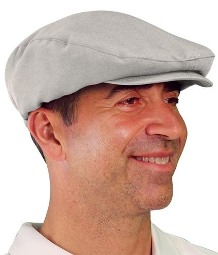 Golf Cap - 'Par 3' Mens Taupe Microfiber