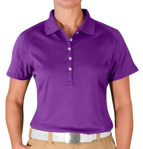 Ladies Hybrid Golf Shirt - Purple
