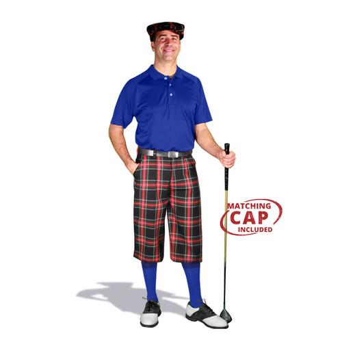 Golf Outfit - Mens Black Stewart & Royal Blue