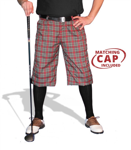 Plaid Golf Knickers & Cap - 'Par 5' Mens Acadia