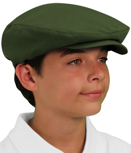 Golf Cap - 'Par 3' Youth Olive Microfiber
