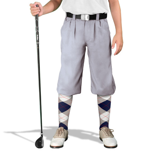 Golf Knickers - 'Par 4' Youth Taupe Cotton