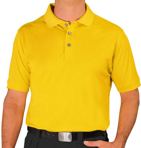 Mens Pro-Dry Golf Shirt - Yellow