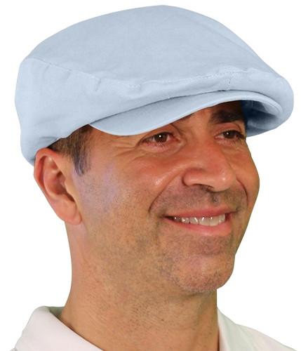 Golf Cap - 'Par 4' Mens Light Blue Cotton/Ramie